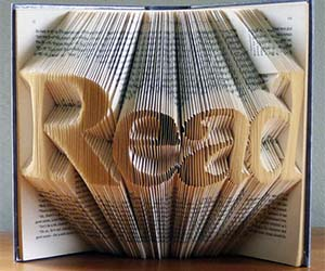 Folded Book Paper Art
