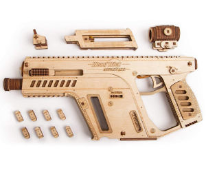 3D Assault Rifle Wooden Pu...