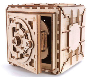 3D Wooden Safe Puzzle Kit