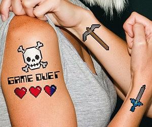 8-Bit Temporary Tattoos