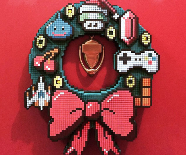 8-Bit Holiday Wreath