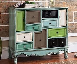 Multicolor Nine Drawer Cabinet