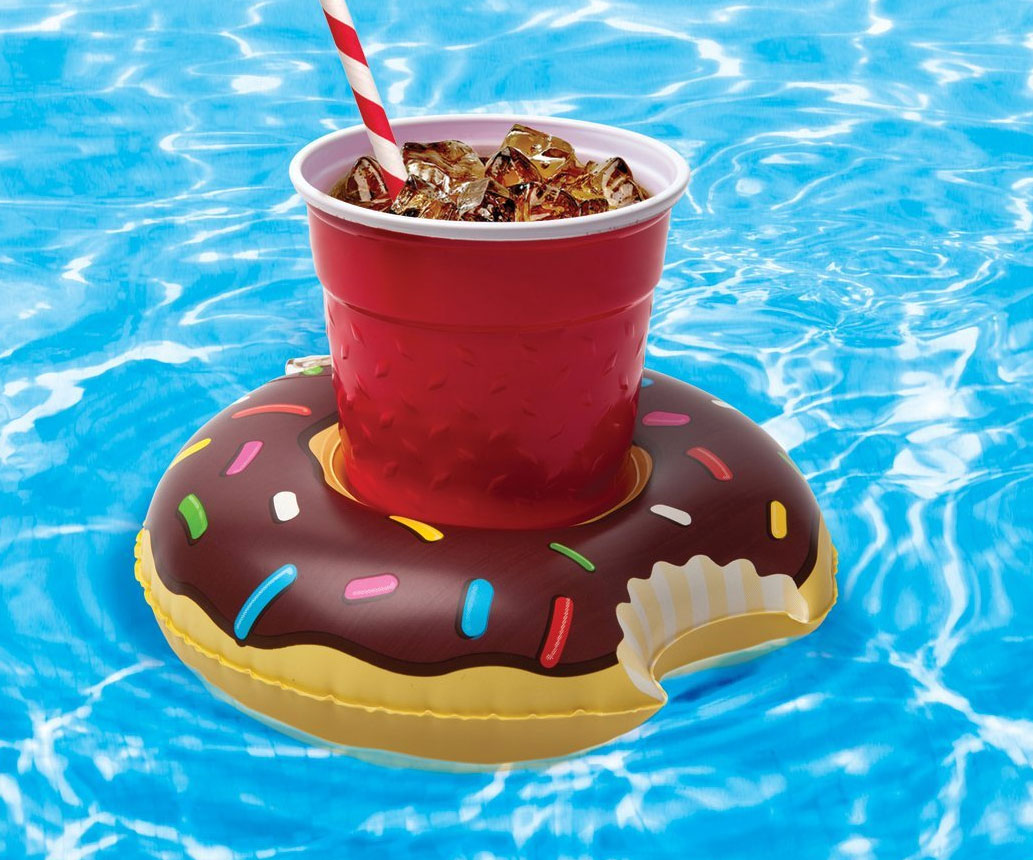 Inflatable Donut Cupholder Floats