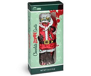 Chocolate Zombie Santa
