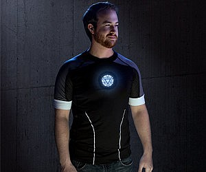 Iron Man 3 Tony Stark Light-Up LED Shirt