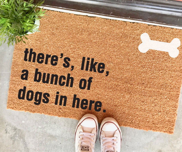 A Bunch Of Dogs In Here Doormat