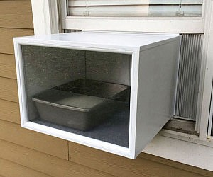 External A/C Styled Litter Box