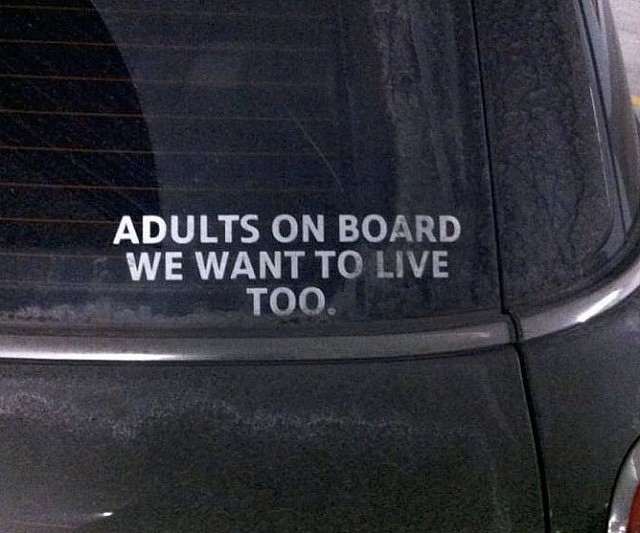 Adults on board car sticker
