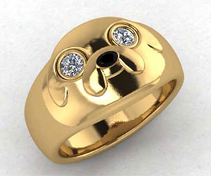 Lord Of The Rings Wedding Band 39 Vintage Adventure Time Jake Ring