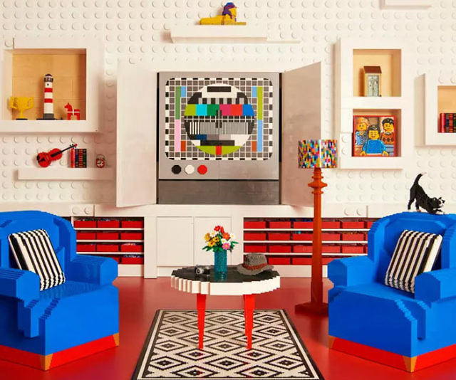 Airbnb Life Size LEGO House