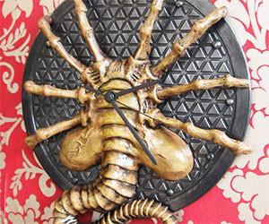 Alien Facehugger Wall Clock