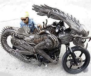 Awesome Aliens Motorcycle
