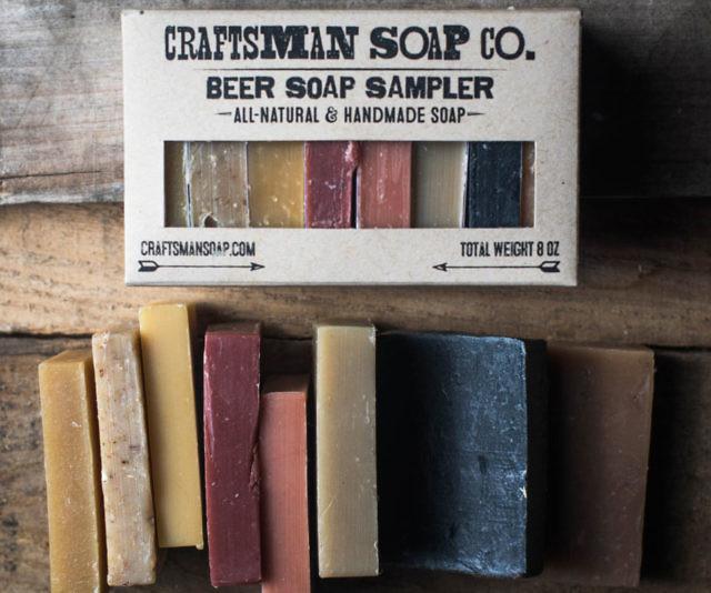 all natural beer soap set