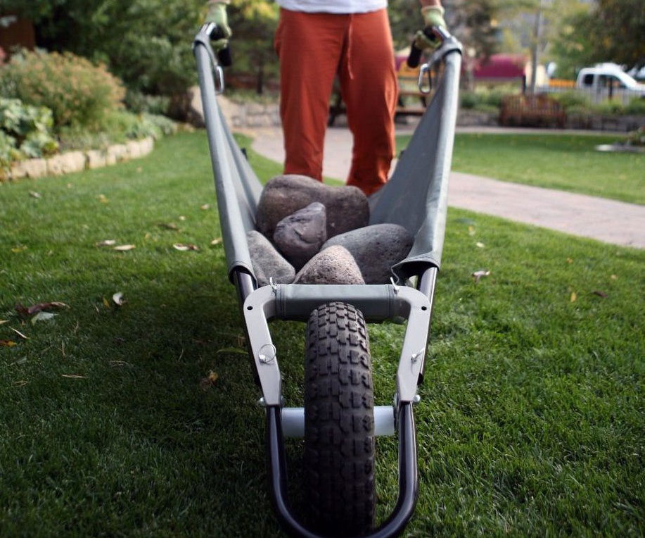 Folding Yard Wheelbarrow - coolthings.us