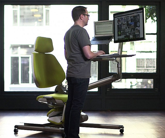 Charming Sit / Stand / Lay Down Workstation