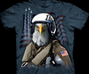 Bald Eagle Fighter Pilot Shirt
