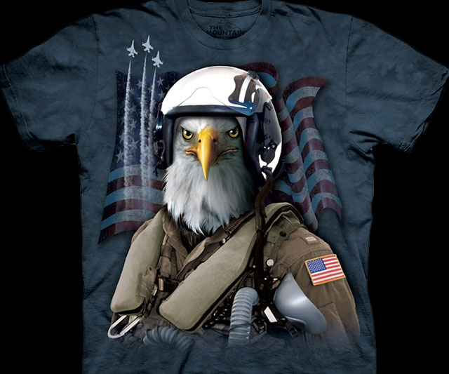 Bald Eagle Fighter Pilot Shirt
