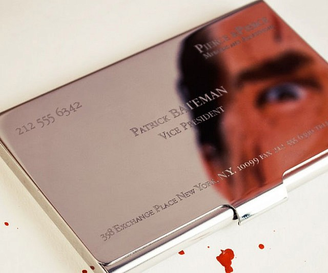 American psycho business card case colourmoves