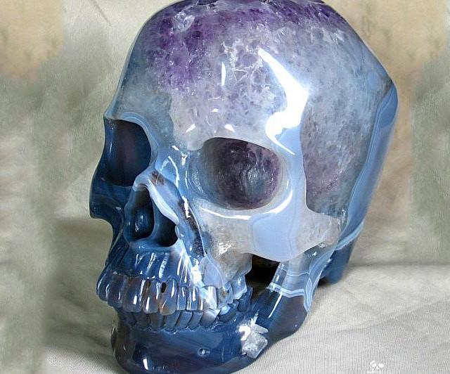 Amethyst Carved Skull