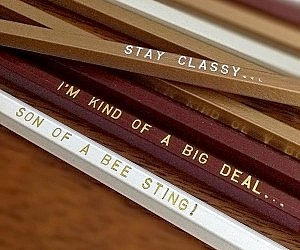 Engraved Anchor Man Quote Pencils