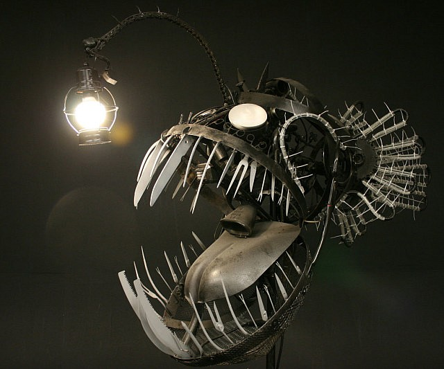 Deep Sea Angler Fish Statue