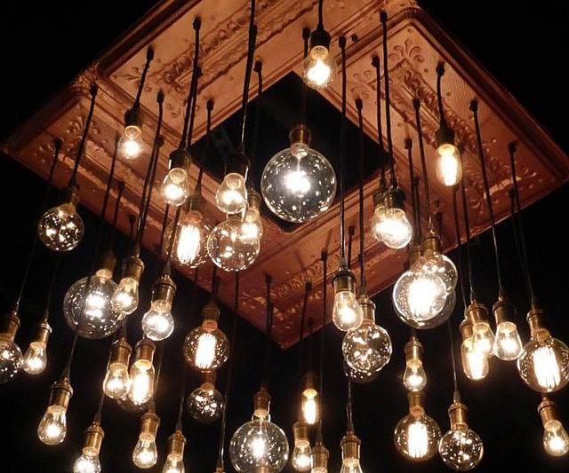 Antique Ceiling Tins Chandelier