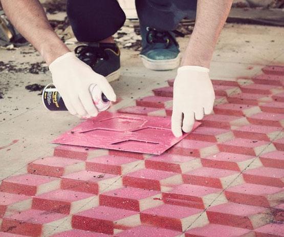 Antique Floor-Tile Stencil Kit