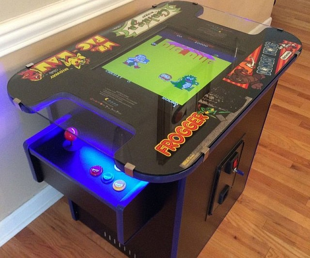 Arcade cocktail table for Diy cocktail table