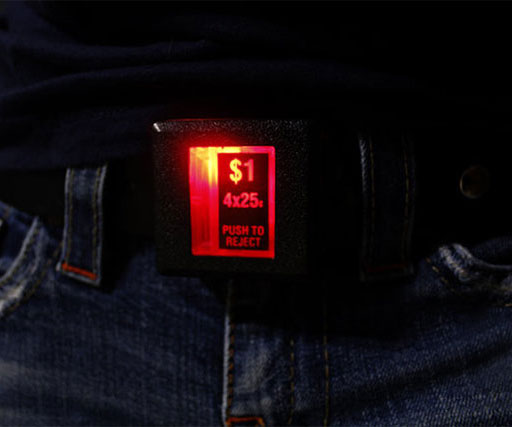 Arcade Coin Drop Belt Buckle