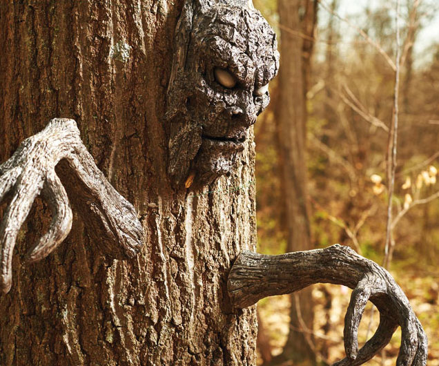 Creepy Tree Arms And Face Set