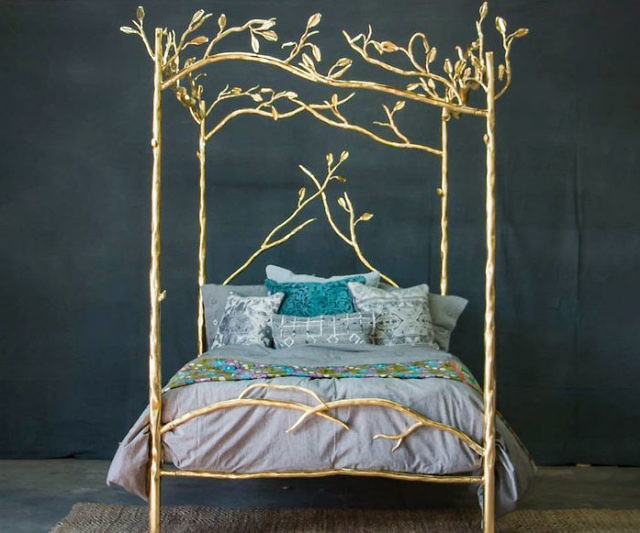 Gold Forest Canopy Bed & Forest Canopy Bed