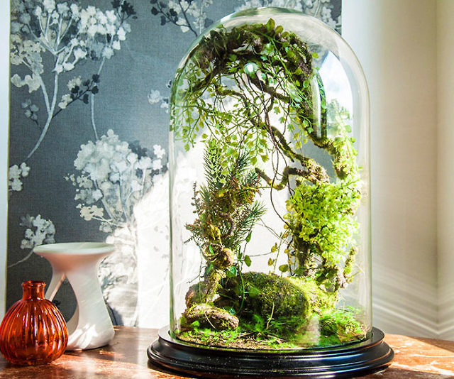 Artificial Plants Forest Terrarium