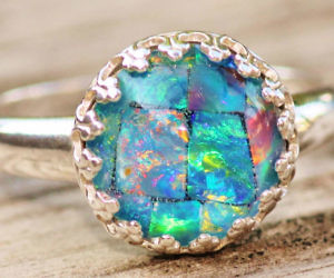 Turquoise Inlay Wedding Band 77 Awesome Australian Opal Ring