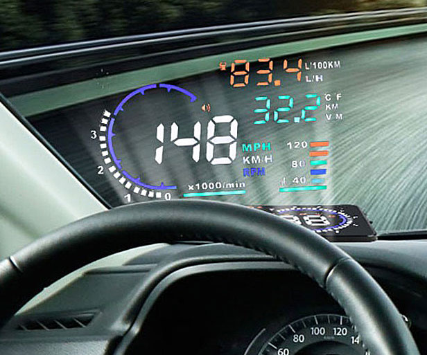 Automobile Mail: Automobile Heads Up Display