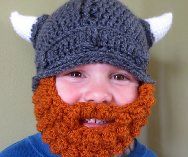 Baby Viking Hat Beard Beanie