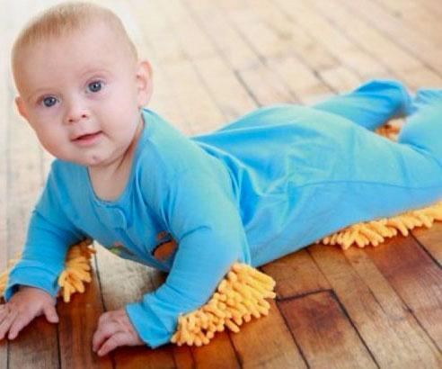 95825f85365f Baby Mop Onesie