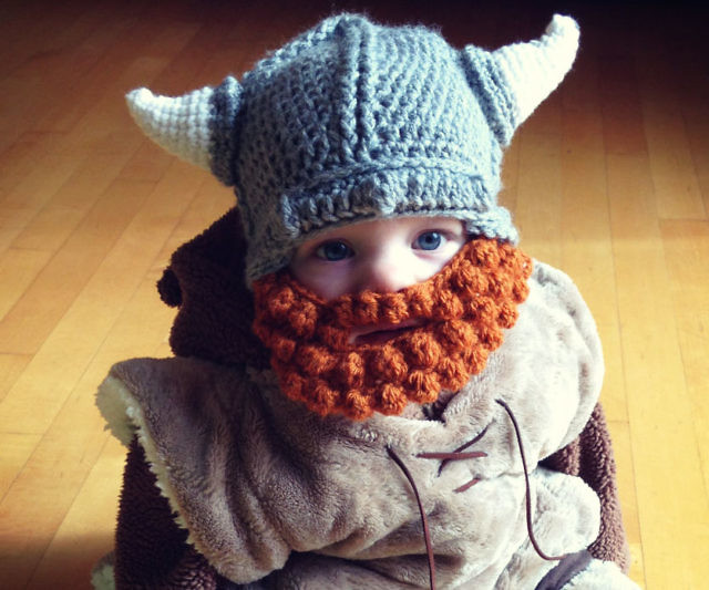 Baby Viking Hat   Beard Beanie bb84d6b9879