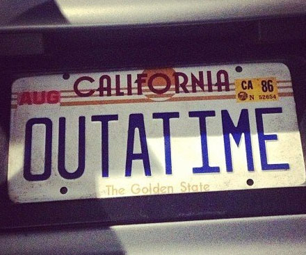 Back to the future license plate solutioingenieria Image collections