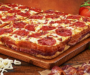 Bacon Crust Wrapped Pizza