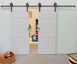 Sliding Double Barn Door Kit & Hidden Door Kit