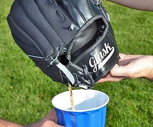 Baseball Glove Flask