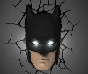 Batman Mask Wall Light