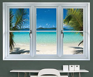 Beach Window Sticker