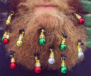 beard christmas ornaments - Christmas Beard