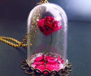 2bb160c0cf98 Beauty   The Beast Rose Vial Necklace