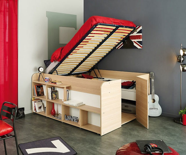 Fancy Space Up Bed And Storage