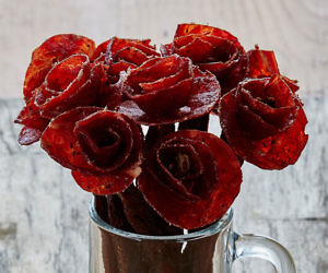 Beef Jerky Rose Bouquets