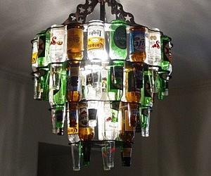 Spectacular Beer Bottle Chandelier