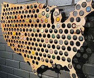 Beer Cap Maps