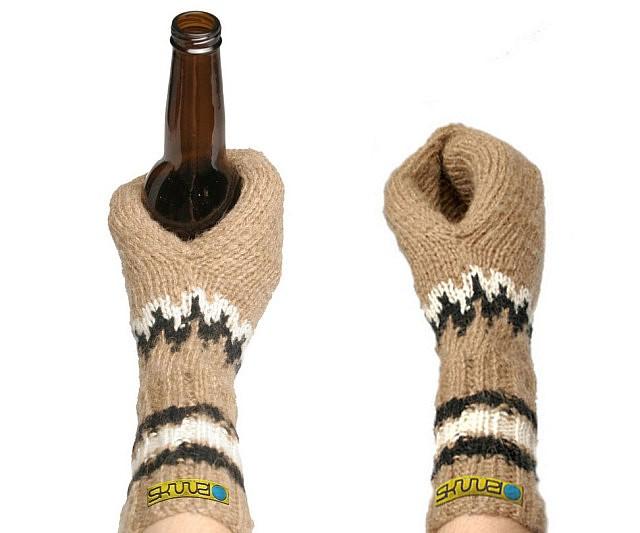 Beer Koozie Mittens